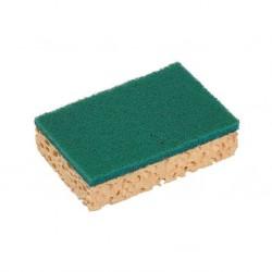 Eponge avec grattoir vert