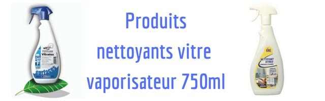 Produits pour les vitres en vaporisateur